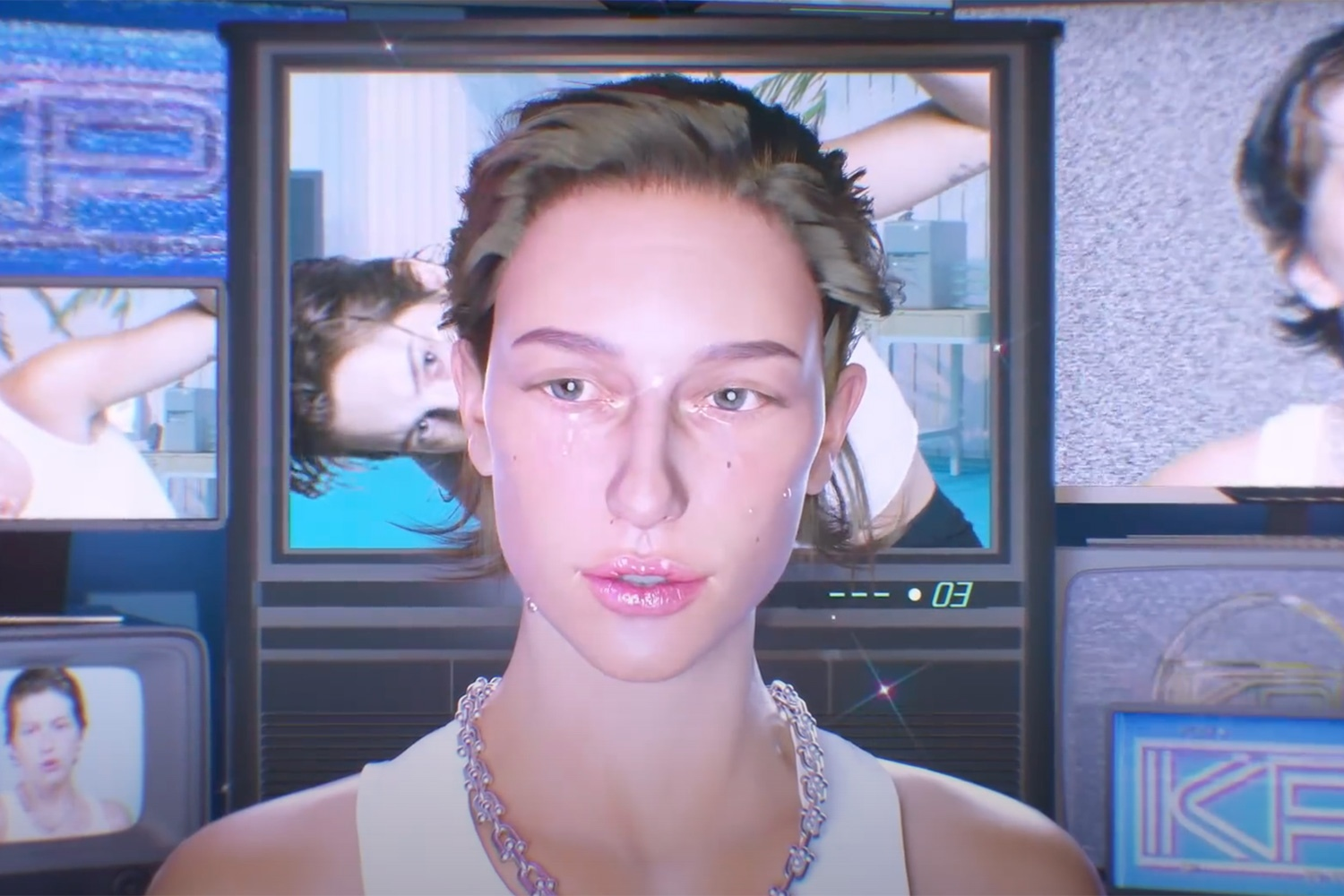 "A still from King Princess' ""Only Time Makes Us Human"" video."