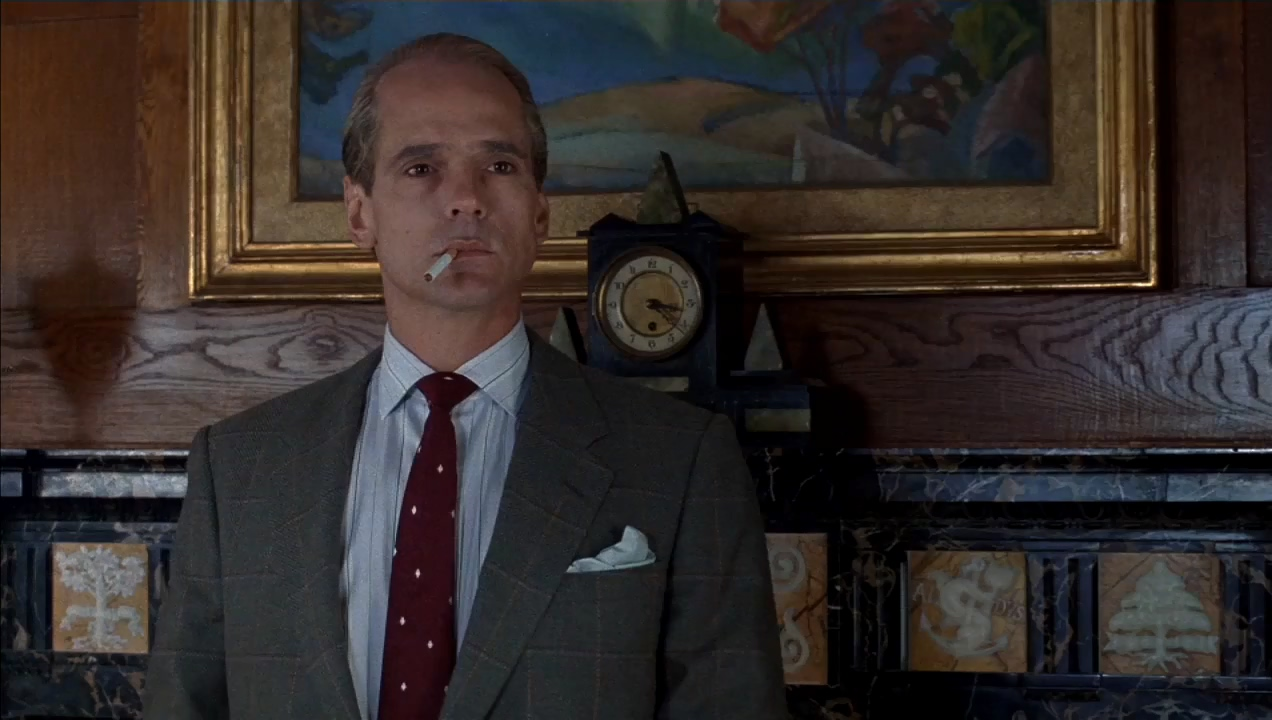 "Jeremy Irons stars as Claus von Bülow in ""Reversal of Fortune"" (1990), directed by Barbet Schroeder."