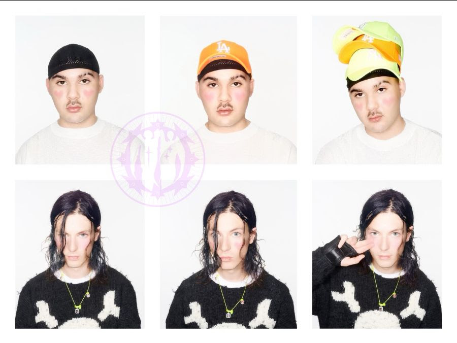 A promotional image of Bladee and Mechatok