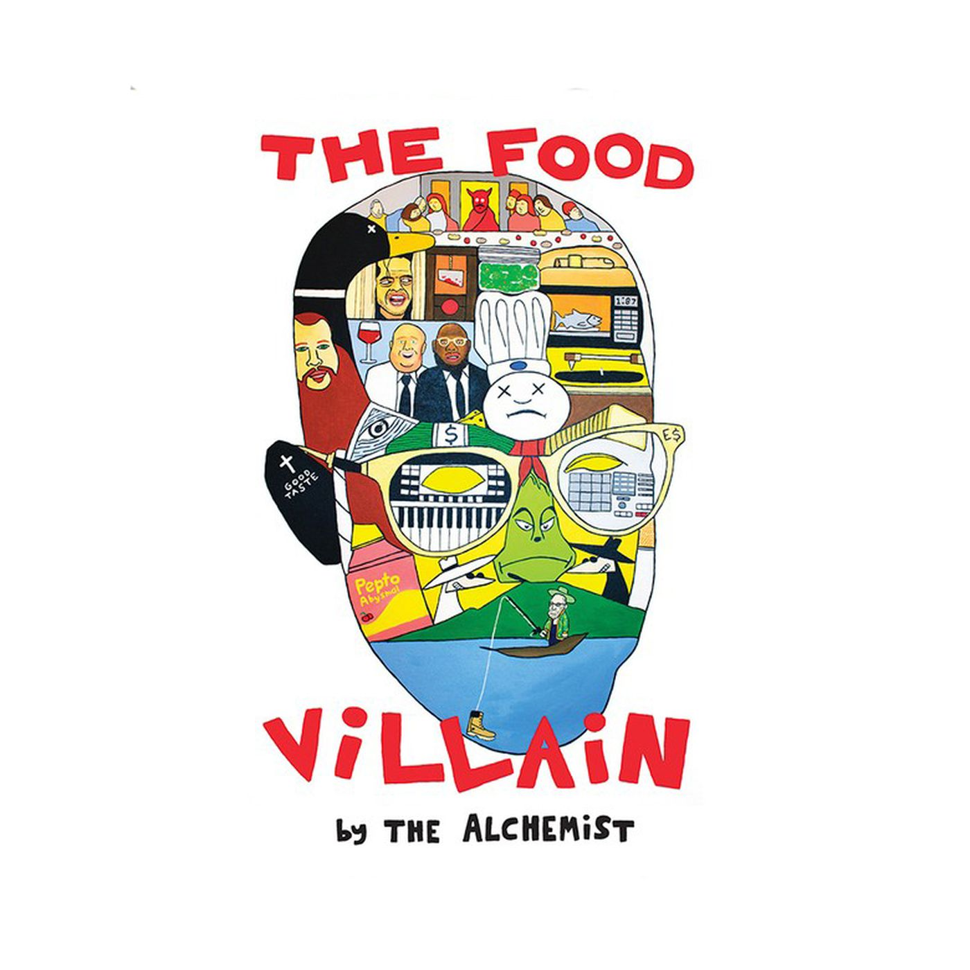 "Album cover for The Alchemist's ""The Food Villain"""