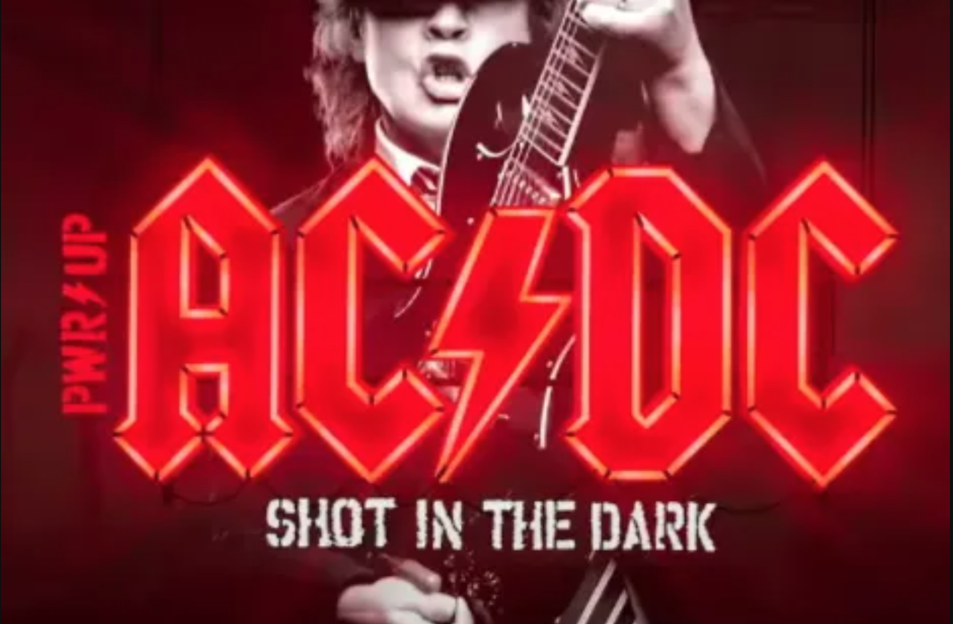"Promotional art for AC/DC's ""Shot in the Dark"""
