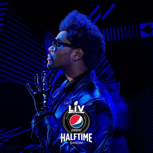 The Weeknd performs at the Super Bowl LV Pepsi Halftime Show.