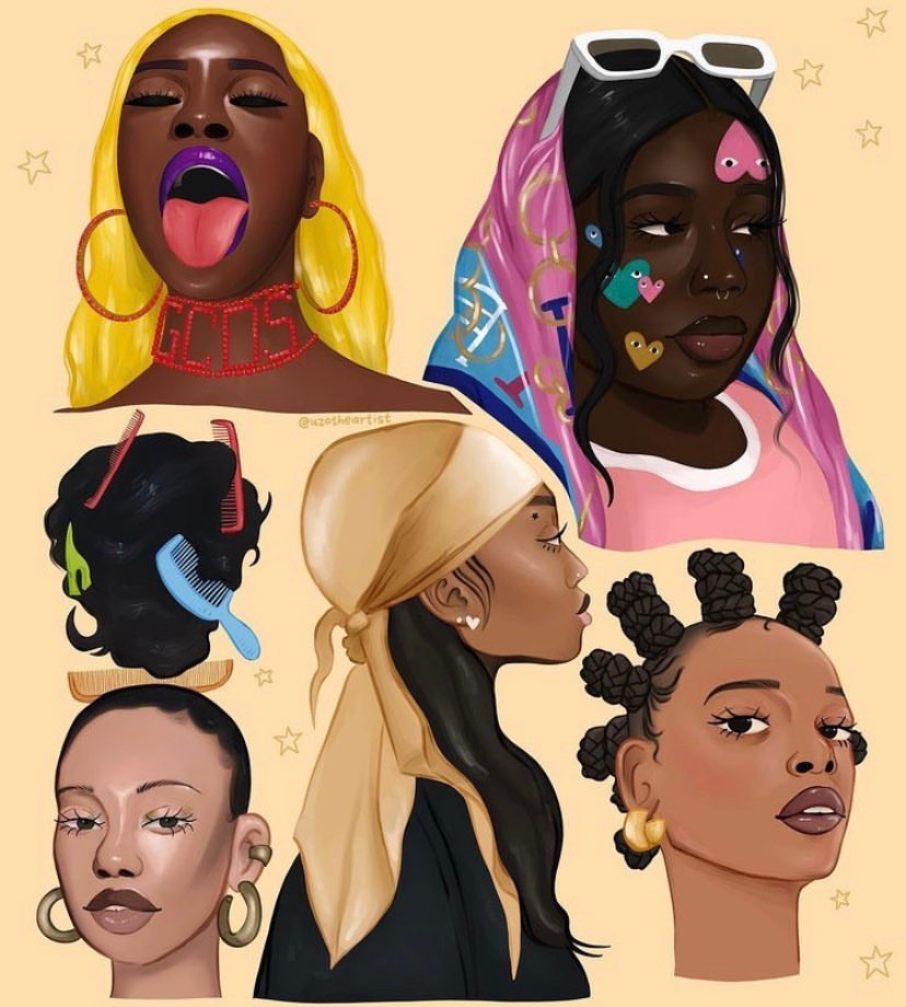 Ngwu's artwork celebrating Black women.