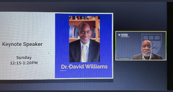 David R. Williams, chair of the Social and Behavioral Sciences department at the Harvard School of Public Health, served as Sunday's keynote speaker at the fifth annual student-run Black Health Matters conference.