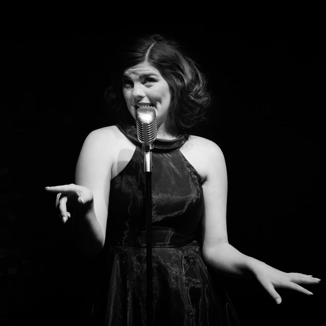 """Elle Shaheen stars in her senior thesis production, """"Recorded Live: The Great American Family Jukebox Cabaret."""""""