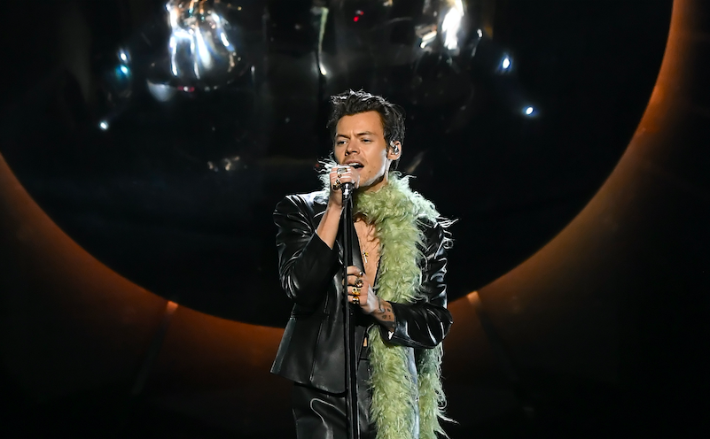"""Harry Styles performed a jazzy rendition of """"Watermelon Sugar"""" at the 2021 Grammys."""