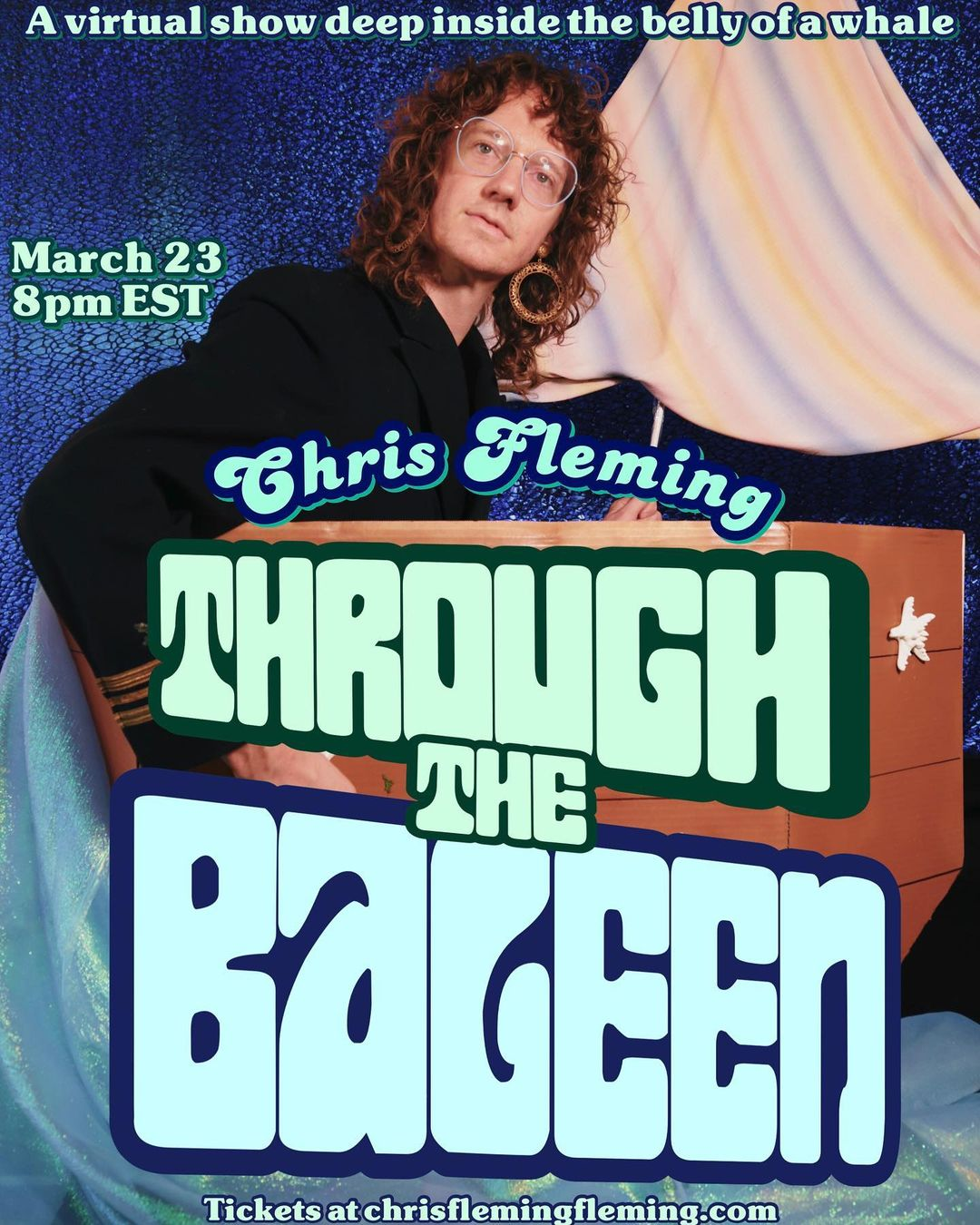 "Chris Fleming's new show, ""Through the Baleen,"" opened on March 23."