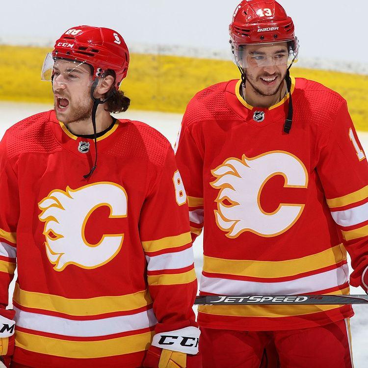 The Calgary Flames' Throwback Alternates-Turned Primaries Uniform