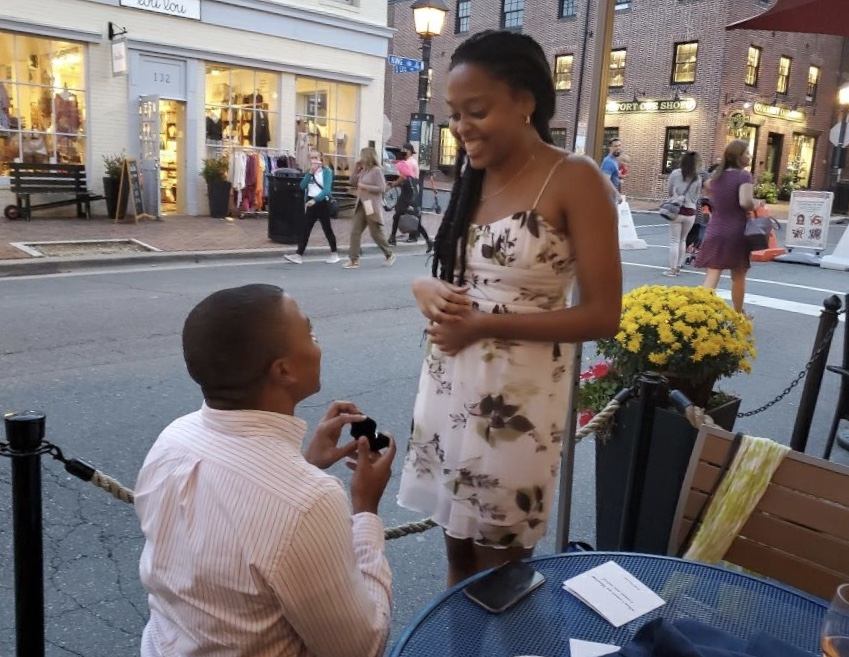 Last September, Walton visited Edwards in her hometown of Alexandria, Va., to celebrate their birthdays — and to propose.