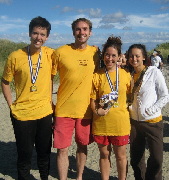 Kreycik, left, at the Reach the Beach Relay in New Hampshire in 2007. His friends described him as an adventurous spirit who loved to spend time outdoors.