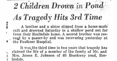 Local newspapers picked up word of the Johnson children's deaths, informing the community about the tragedy.