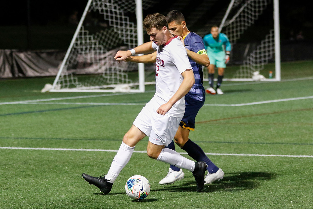 Harvard relied on its defense on Saturday to battle the defending Ivy League Champions to a draw. Despite some close calls, including a shot that ricocheted off the crossbar for the Crimson, the game ended locked at 0-0.