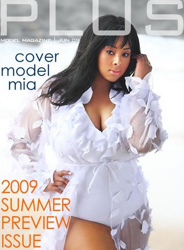Mia Amber Davis on Plus Model Magazine Cover 2009