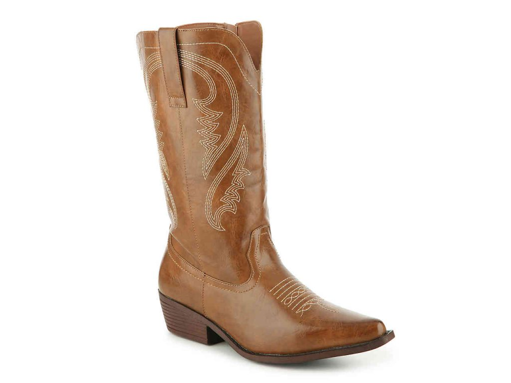 Celebrity Pink Dusty Wide Calf Cowboy Boot at DSW