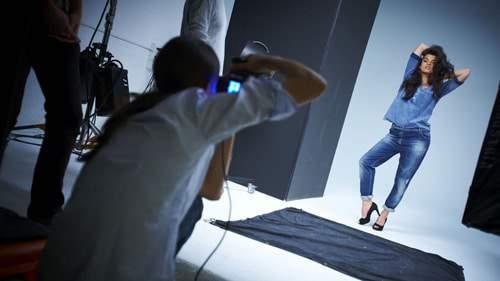 Crystal Renn for Marina Rinaldi Denim Collection