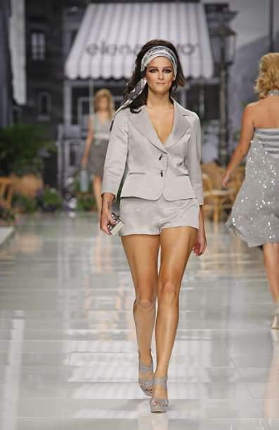 Plus size designer Elena Miro Short Suit Spring 2011