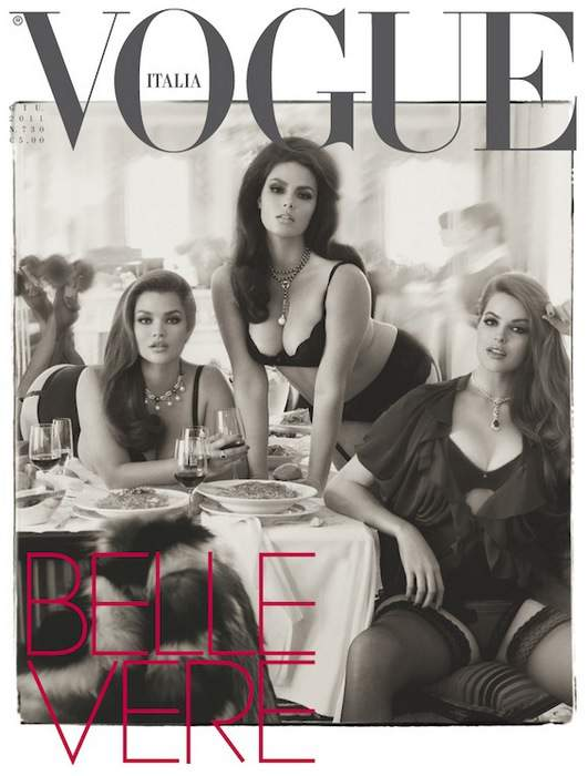 Vogue Italia Vogue Plus Size  Fashion Shoot featuring Tara Lynn, Robyn Lawley, Candice Huffine