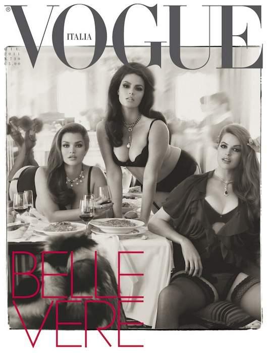 Plus Size Models on Vogue Italia