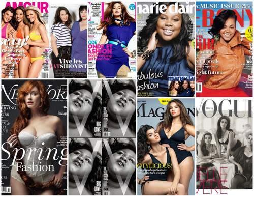 Plus Size women on Magazine Covers