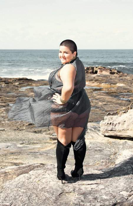 Plus Size Australian Designer Gisela Ramirez: Chocolate Cardigan