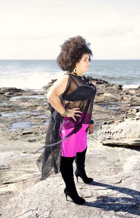 Plus Size Australian Designer Gisela Ramirez: The Black Chiton