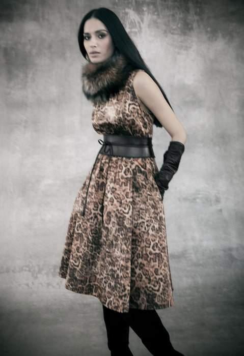 Lafayette 148 Leopard Dress