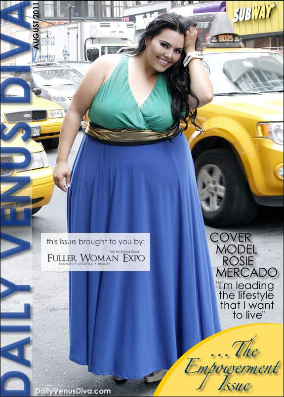 August 2011 Daily Venus Diva Magazine with Rosie Mercado Cover