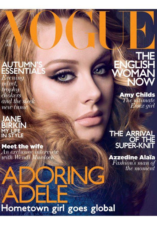 Adele Vogue UK October Cover