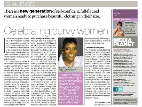 MediaPlanet's Full Figured Report in USA Today