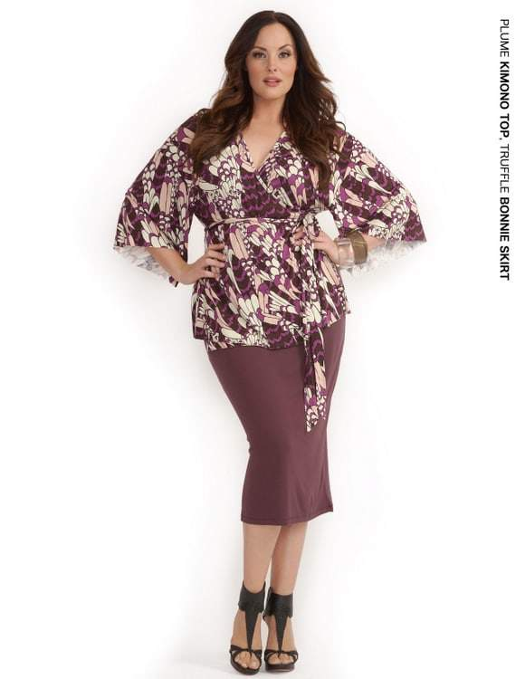 Rachel Pally White Label Holiday 2011: Plume Kimono Top and Truffle Bonnie Skirt