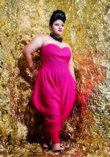 Plus size designer- Jibri Holiday 2011 Collection- Sweetie Slouch Jumpsuit