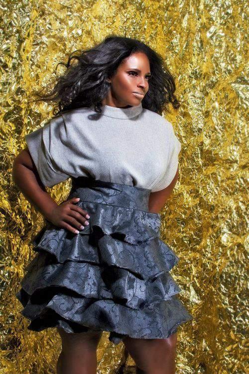 Plus size designer- Jibri Holiday 2011 Collection- Wool Gauze Tunic and High Waist Ruffle Skirt