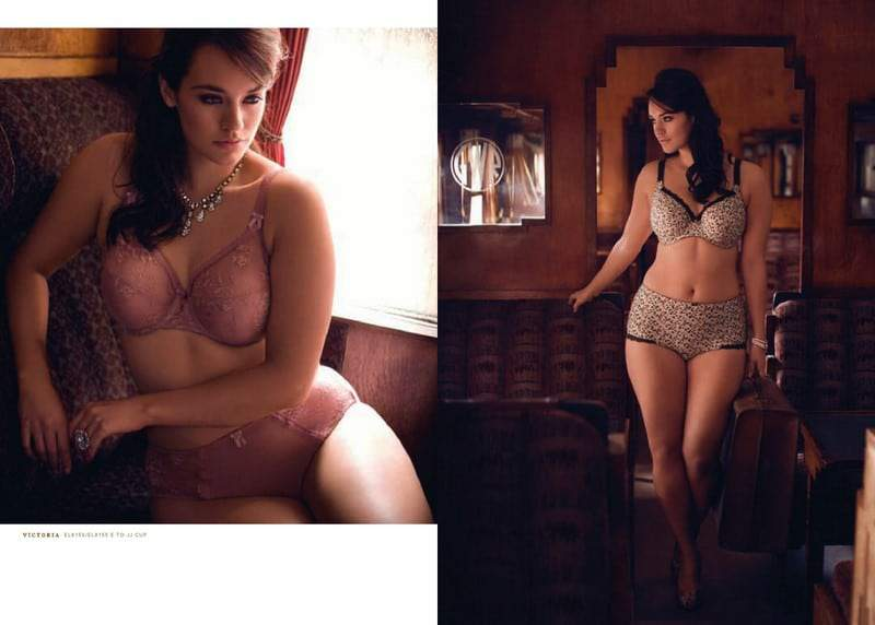 Plus Size Lingerie Designer Elomi's Beautiful Betty Spring 2012 Collection