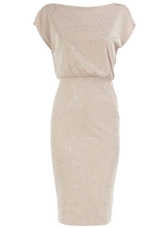 Dorothy Perkins White Glitter Dress