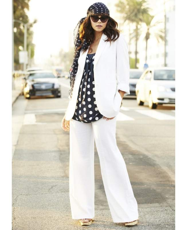 Simply Be White Linen Suit