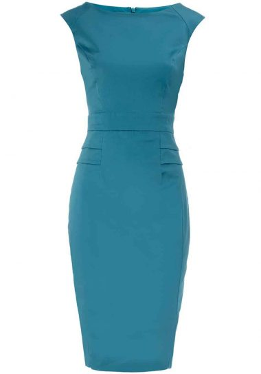 Dorothy Perkins Aqua Peplum Dress