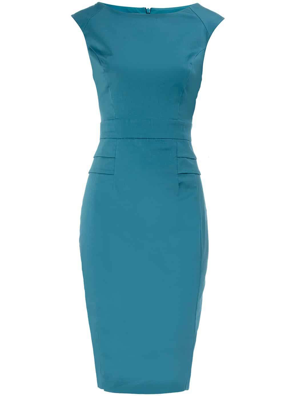 Dorothy Perkins Aqua Peplum Dress