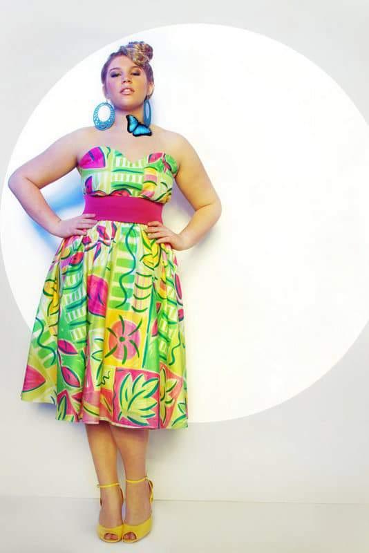 JIBRI Plus Size Flirty Graphic Dress