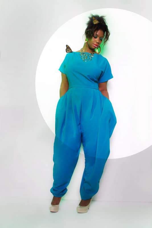 JIBRI Plus Size Cap Sleeved Jumpsuit