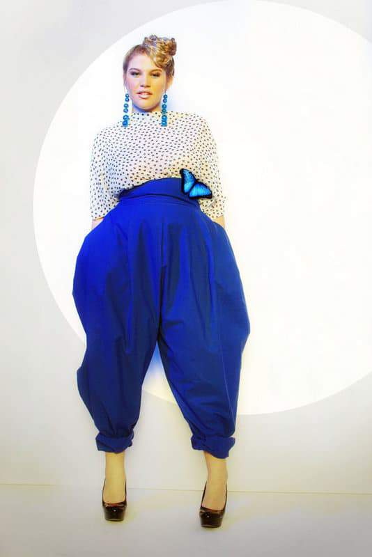 JIBRI Plus Size High Waist Slouch Pant