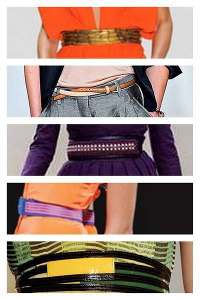 Belts from the Spring 2012 Runway