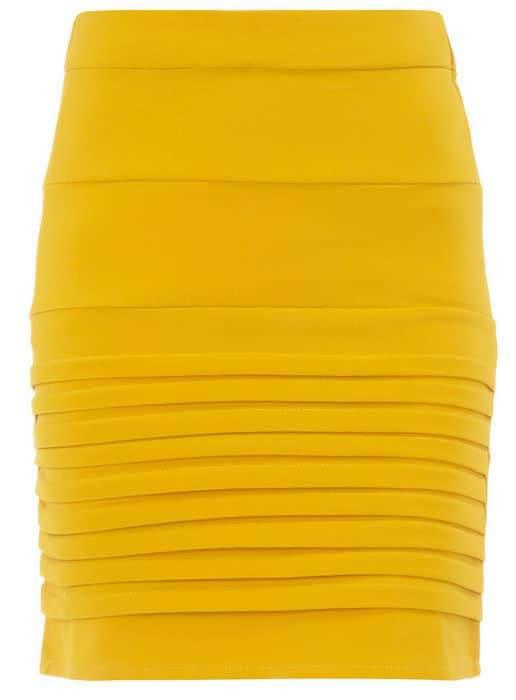 Dorothy Perkins Yellow Mini skirt