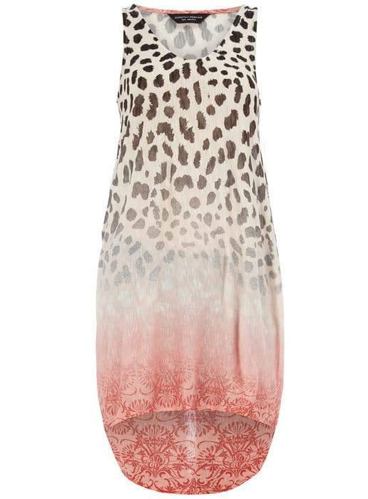 Dorothy Perkins Multi leopard diamond vest