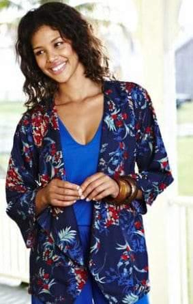 JD Williams Plus Size Kimono Jacket