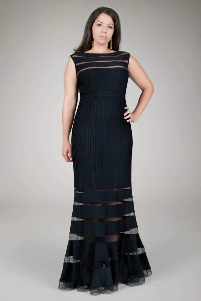 Tadashi Shoji Plus Size Jersey Pintuck Gown