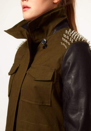 Gotta Have It: Asos Curve Studded Mixed Media Jacket