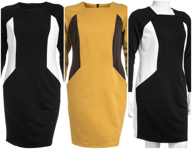 Plus Size Manon Baptiste Color Blocked Dress at Navabi
