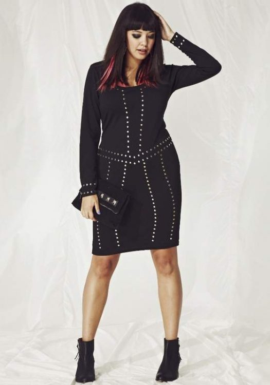 Simply Be Plus Size Studded Dress