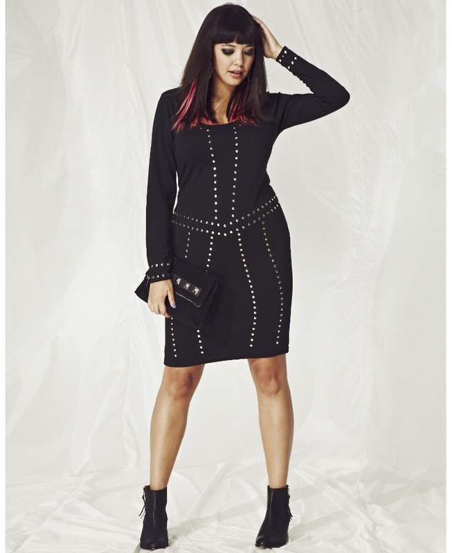 Simply Be Studded Body Con Dress