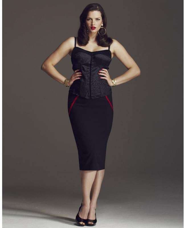Anna Scholz for Simply Be Bustier Top and Contrast Pencil Skirt